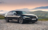 BMW 5 Series M550i 2020 UK first drive - static front