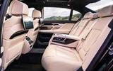 BMW 7 Series 730Ld 2019 UK first drive review - rear seats