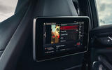 BMW M5 Competition 2020 UK first drive review - rear infotainment