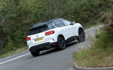 Citroen C5 Aircross Hybrid 2020 UK first drive review - cornering rear
