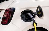 16 Fiat 500e Action 2021 UK FD charging port
