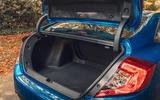Honda Civic saloon 2018 UK first drive review boot