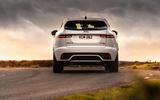 16 Jaguar E Pace P300e 2021 uk first drive review on road rear