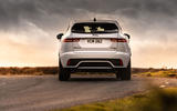 16 Jaguar E Pace P300e 2021 uk first drive review on road rear