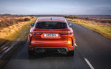 16 Jaguar F Pace SVR 2021 UK first drive review on road rear end