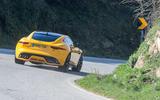 Jaguar F-Type Coupé 2020 first drive review - cornering rear