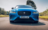 Jaguar XE SV Project 8 Touring 2019 UK first drive review - on the road nose