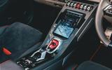 Lamborghini Huracán Spyder 2020 UK first drive review - centre console