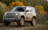 Land Rover Defender 90 P400 X 2020 UK first drive review - offroad front