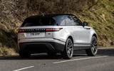 16 Land Rover Range Rover Velar PHEV 2021 UK first drive review on road rear