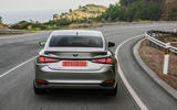 Lexus ES 2019 first drive review - cornering rear