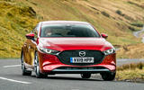 Mazda 3 2019 UK first drive review - cornering front