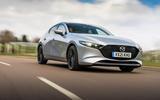 16 Mazda 3 e Skyactiv X 2021 UK fd tracking front