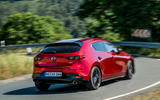 Mazda 3 Skyactiv-X 2019 first drive review - cornering rear