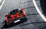 McLaren Senna 2018 UK first drive review on track rear