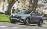 16 Mercedes Benz EQA 2021 UK first drive review on road front