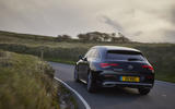 Mercedes-Benz CLA Shooting Brake 220d 2020 UK first drive review - on the road rear