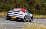 Porsche 911 Carrera 4S Cabriolet 2019 UK first drive review - cornering
