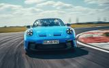 16 Porsche 911 GT3 2021 UK first drive review track nose