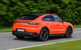 Porsche Cayenne Coupé 2019 first drive review - action rear