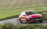 Porsche Macan GTS 2020 UK first drive review - cornering front