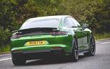 Porsche Panamera GTS 2019 UK first drive review - cornering rear
