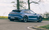16 Porsche Taycan Cross Turismo 2021 LHD cornering rear