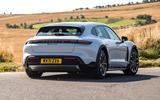 16 Porsche Taycan Cross Turismo 4S 2021 UK FD cornering rear