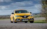Renault Megane RS 300 Trophy 2019 UK first drive review - cornering front