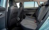 16 Skoda Enyaq 2021 LHD UK first drive rear seats