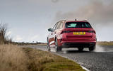 Skoda Octavia vRS Estate 2020 UK first drive review - on the road rear