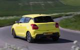 Suzuki Swift Sport 2018 long-term review on the road rear