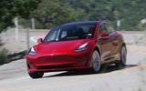 Tesla Model 3 2018 review cornering front