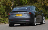 Tesla Model 3 Performance 2019 UK first drive review - cornering rear