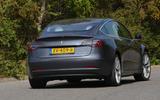 Tesla Model 3 Performance 2019 UK first drive review - cornering rear