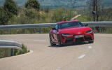 Toyota GR Supra 2019 first drive review - cornering front