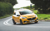 Vauxhall Corsa GSi 2018 UK first drive review cornering