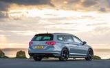Volkswagen passat Estate R Line 2019 UK review - static rear