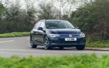 16 VW Golf Estate 2021 UK FD cornering front