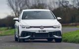 16 VW Golf GTI Clubsport 2021 UK first drive review cornering front
