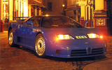 Bugatti EB110 GT with headlights on