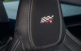 Jaguar F Type coupé Chequered Flag headrest
