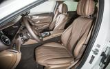 Mercedes-Benz E 350 e front seats