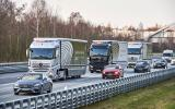 Mercedes lorry convoy