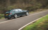 17 Alpina D3 Touring 2021 UK first drive review cornering rear