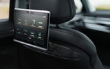 Audi A8 60 TFSIe 2020 UK first drive review - rear infotainment