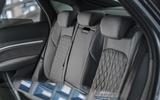 17 Audi E tron S Sportback 2021 UK first drive review rear seats