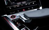 Audi E-tron S Sportback 2020 first drive review - gear selector