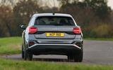 Audi Q2 35 TFSI Sport 2020 UK first drive review - cornering rear