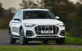 Audi Q5 40 TDI Sport 2020 UK first drive review - cornering front